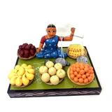 Lady selling fruits - Kondapalli Toys - Collection