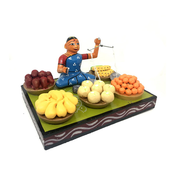 Lady selling fruits - Kondapalli Bommalu