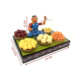 Lady selling fruits - Kondapalli Toys - Artsytribe Handicrafts