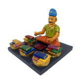 Village craftsman - Set of 6 - Kondapalli toys - Bommalu koluvu