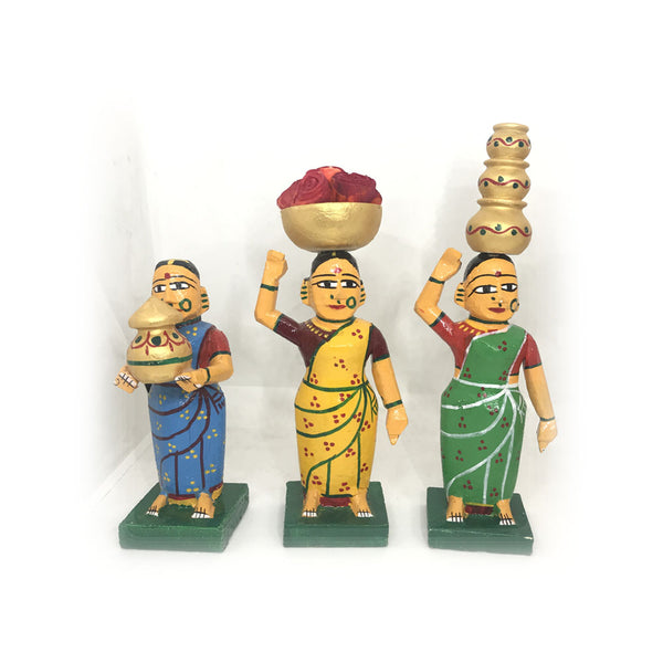 Village Ladies set - Kondapalli Bommalu - set