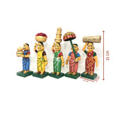 Village Ladies set - Kondapalli Toys - Artsytribe Collection