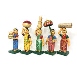 Village Ladies set - Kondapalli Toys - Artsytribe Handicrafts