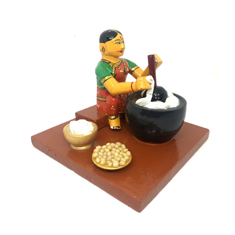Women making batter - Kondapalli Toys