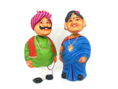 Bobble head Toy - Old couple - Budda Buddi Pair
