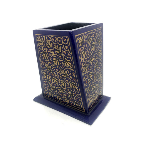 Papier Mache Pen stand with Kashmiri Art