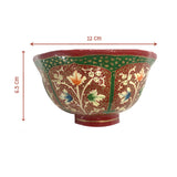 Papier Mache floral design bowls - Set of 3