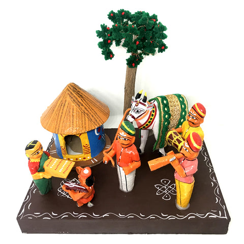 Sankranthi in village theme - Kondapalli Toys