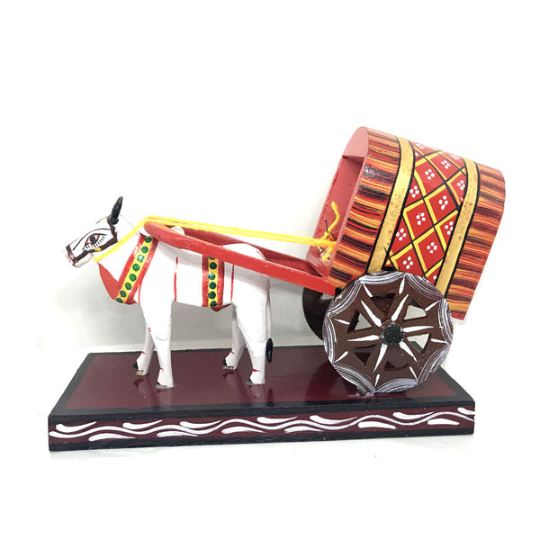 Light Weight Wooden Bullock cart - Kondapalli Toys