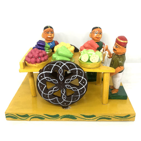 Vegetable Cart handicraft from Kondapalli Toys