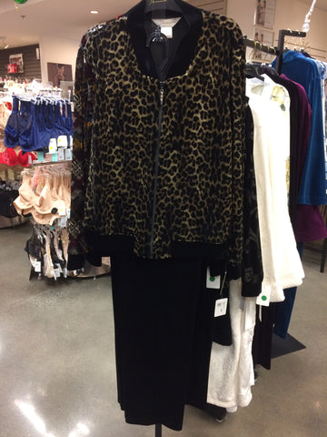 Diamond Tea lounge outfit, leopard print