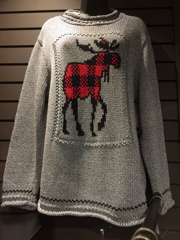Cotton Country moose sweater