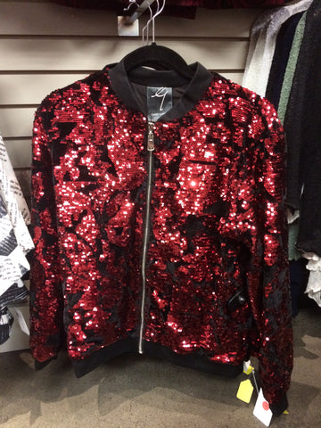 Sparkly red jacket