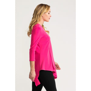 JR 3/4 Sleeve Tunic - Style 161066, hyperpink, side