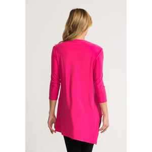 JR 3/4 Sleeve Tunic - Style 161066, hyperpink, back