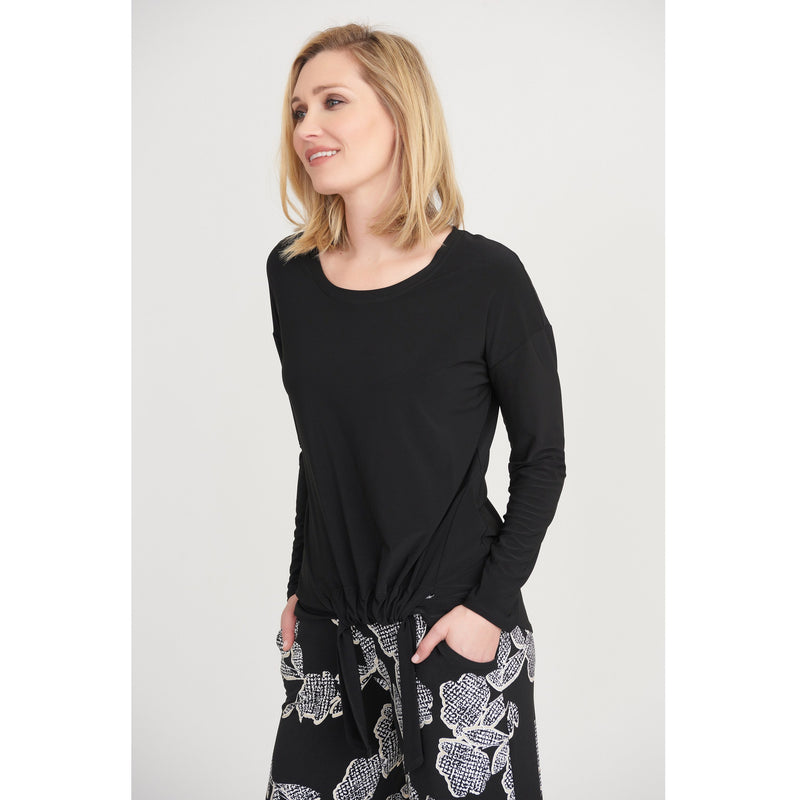 Joseph Ribkoff Long Sleeved Top - Style 203450, black, front