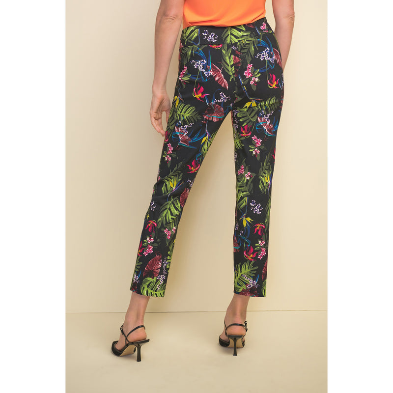 Joseph Ribkoff Tropical Pattern Pull-On Ankle Pant - Style 211161, back