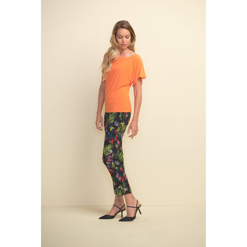 Joseph Ribkoff Tropical Pattern Pull-On Ankle Pant - Style 211161, side, full view
