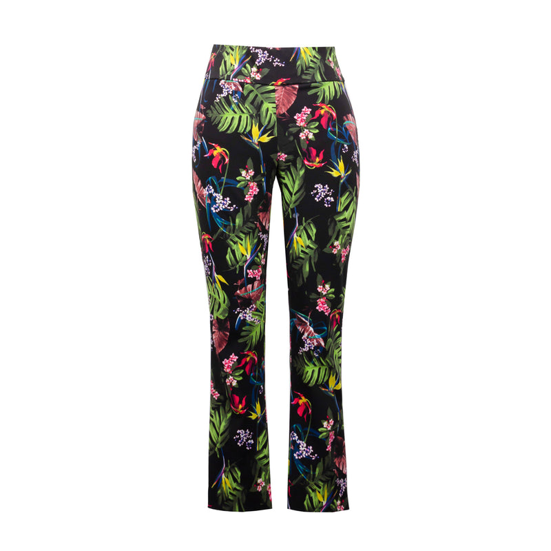 Joseph Ribkoff Tropical Pattern Pull-On Ankle Pant - Style 211161, no model