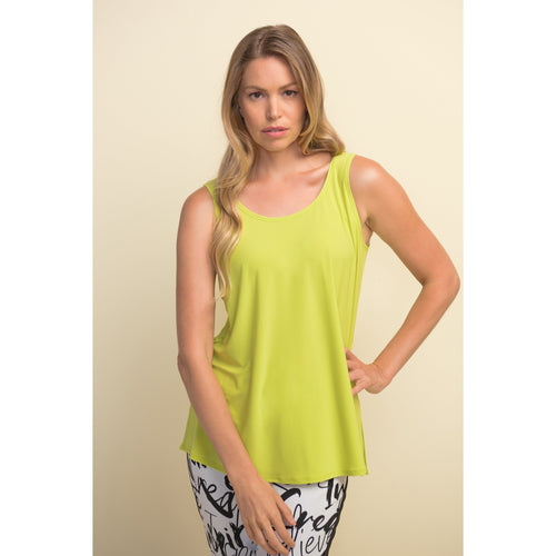 Joseph Ribkoff Sleeveless Back Button Top - Style 211455, front