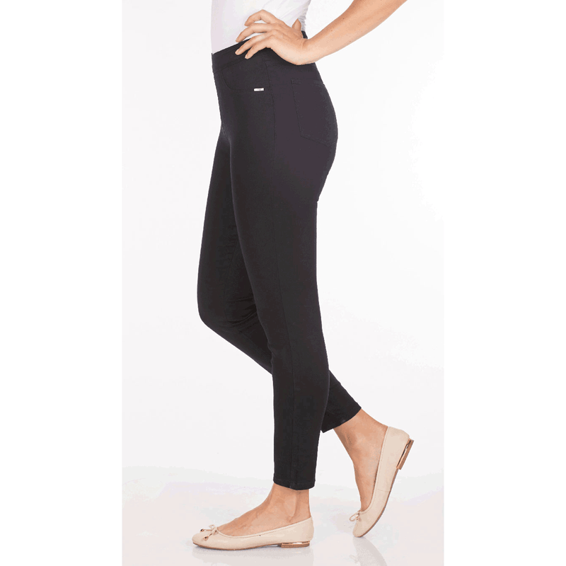 FDJ Pull-On Ankle Pant - Style 273906N, model, side, black