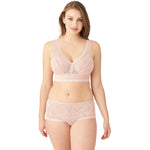 Wacoal Net Effect Soft Cup Bralette - Style 810340, rose, with panty