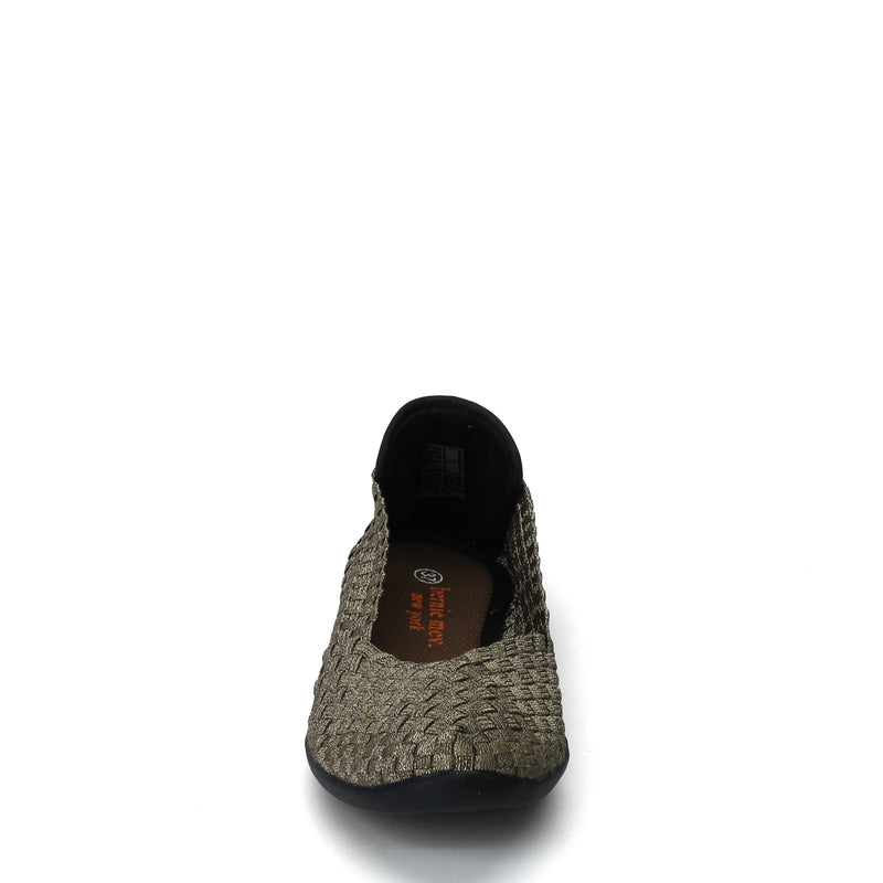 Bernie Mev Slip-On Flat Shoes, Style Catwalk, bronze, front