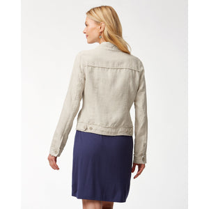 Tommy Bahama Linen Raw-Edge Jacket - Style TW510640