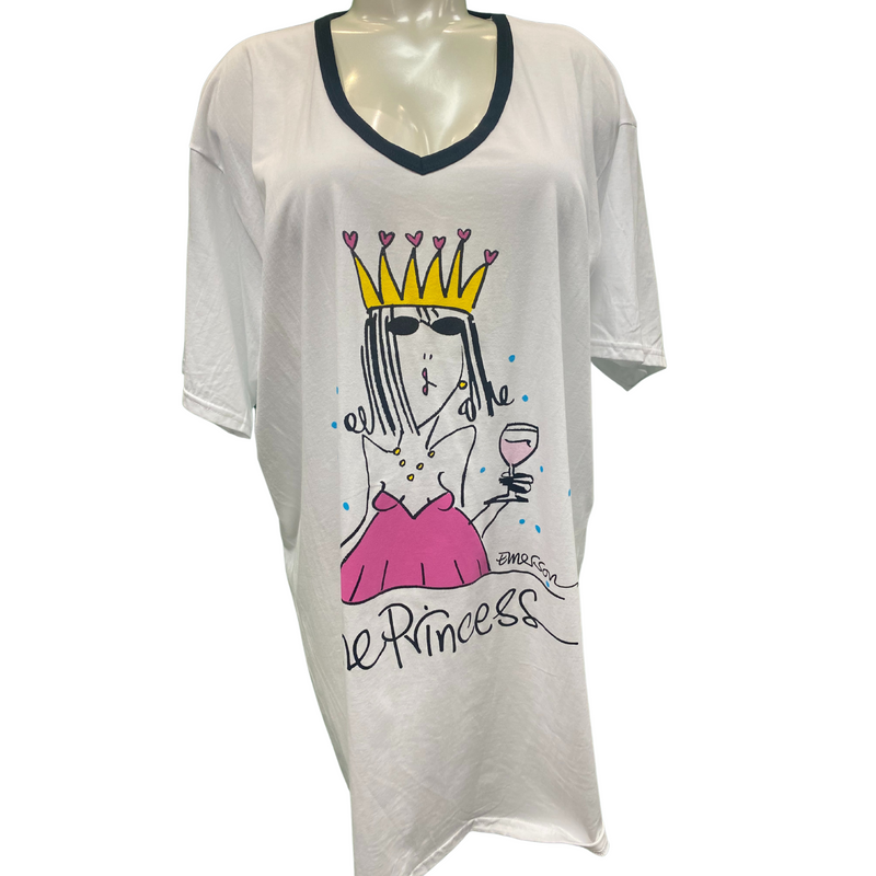 "Emerson Street ""Wine Princess"" Nightshirt in a Bag - Style 01NS4228, nightshirt"