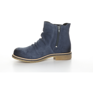 Bos & Co Suede Waterproof Bootie - Style Beat, petrol, left side