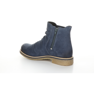 Bos & Co Suede Waterproof Bootie - Style Beat, petrol, left side2
