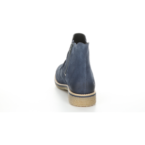Bos & Co Suede Waterproof Bootie - Style Beat, petrol back