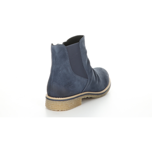 Bos & Co Suede Waterproof Bootie - Style Beat, petrol, back2