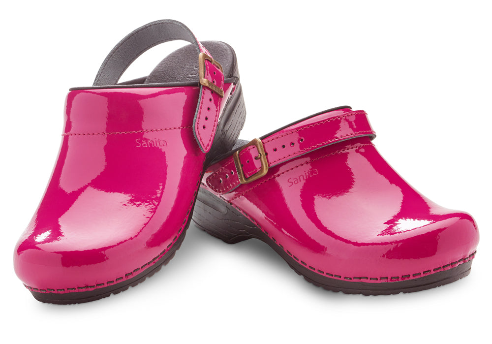 Estelle Women's in Fuchsia Clog with an adjustable and movable strap