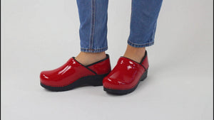 Sanita Pro. Patent Women's in Red Closed Back Clog