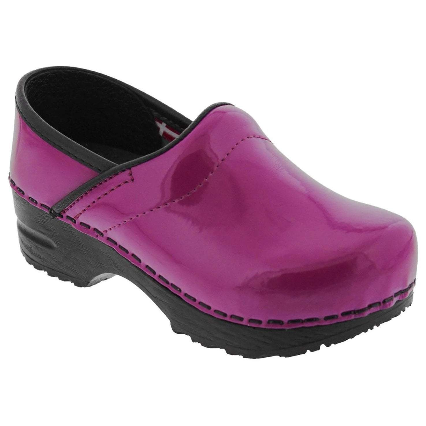 Sanita Gitte Patent Kids' Closed Back Clog