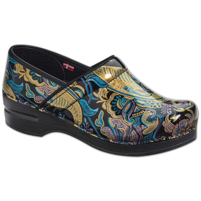 Sanita Chaya Women's in Blue/Black Closed Back Clog