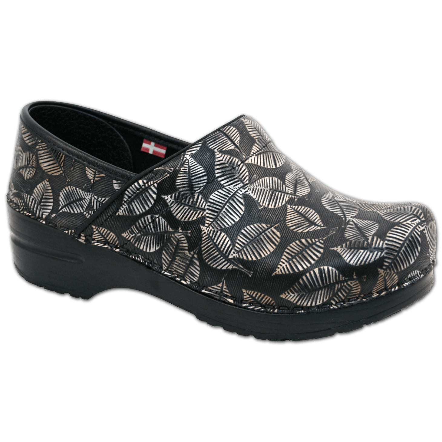 Sanita Hampden Women's in Black Closed Back Clog