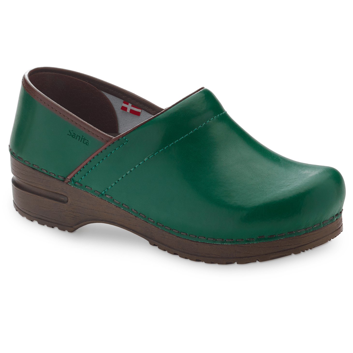 Sanita Izabella Women's in Dark Green Closed Back Clog