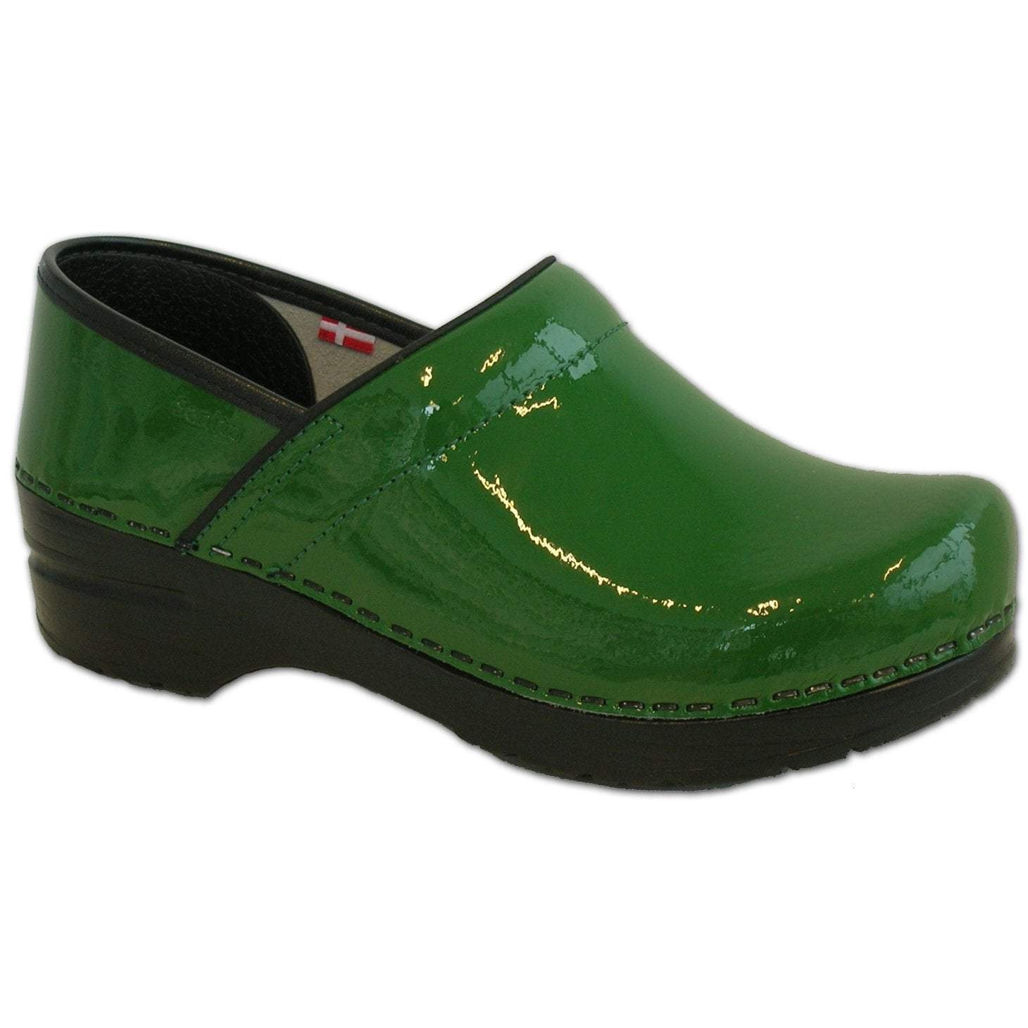Sanita Pro. Patent Women's in Green Closed Back Clog