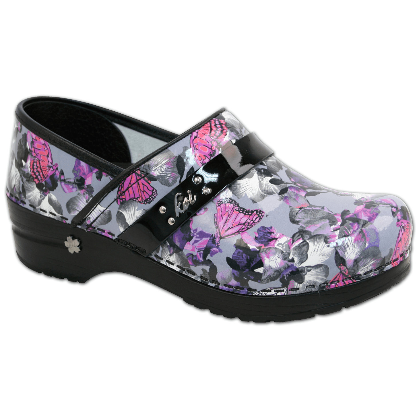 Sanita Orchid Bloom Women's Closed Back Clog