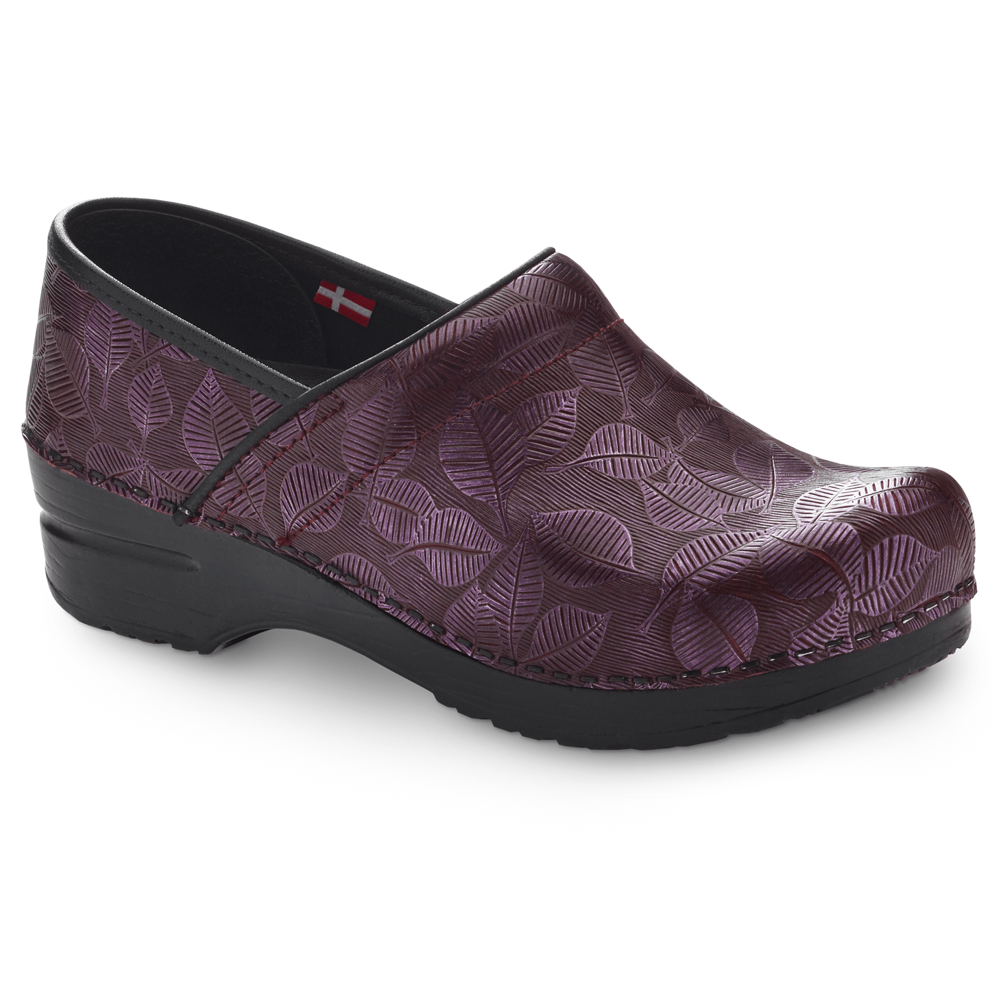 Sanita Hampden Women's in Bordeaux Closed Back Clog