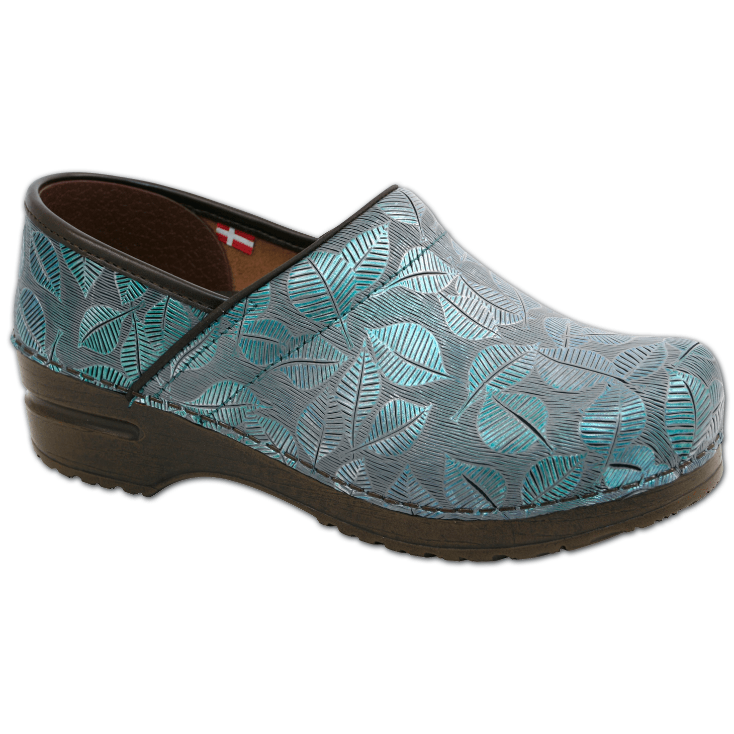 Sanita Hampden Women's in Mint Closed Back Clog