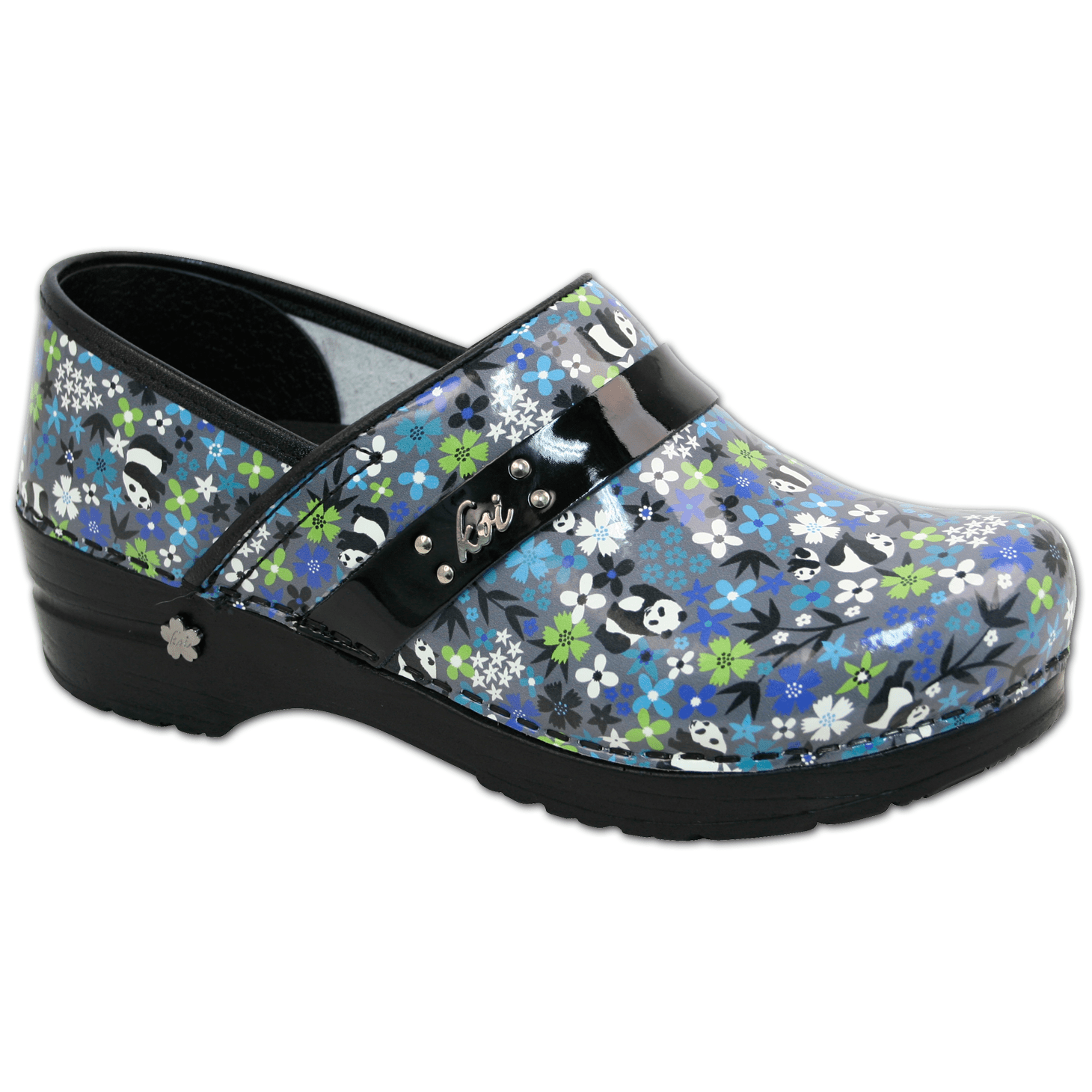 Sanita Koi Panda Flower Women's Closed Back Clog