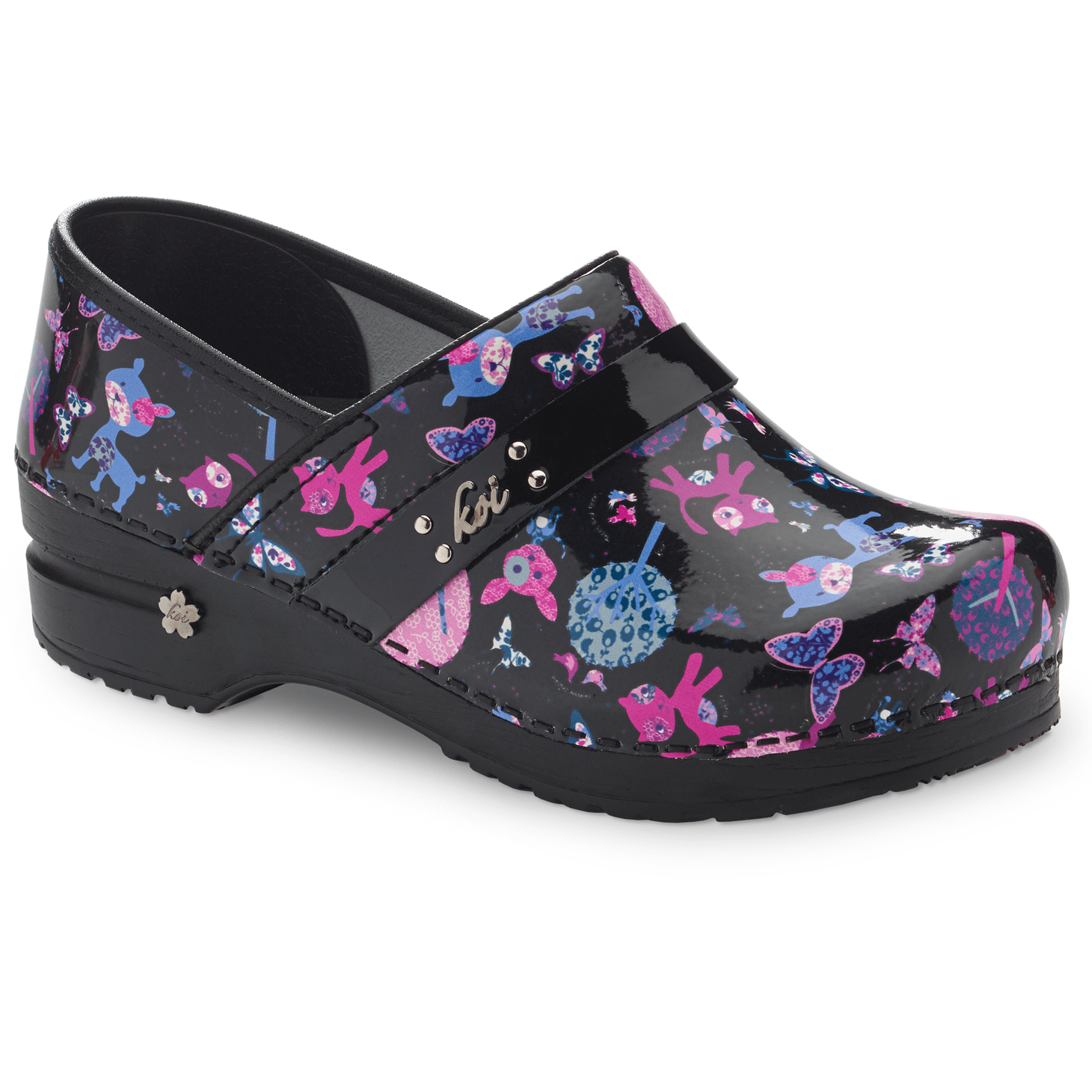 Sanita Pet Zoo Women's in Multi Closed Back Clog