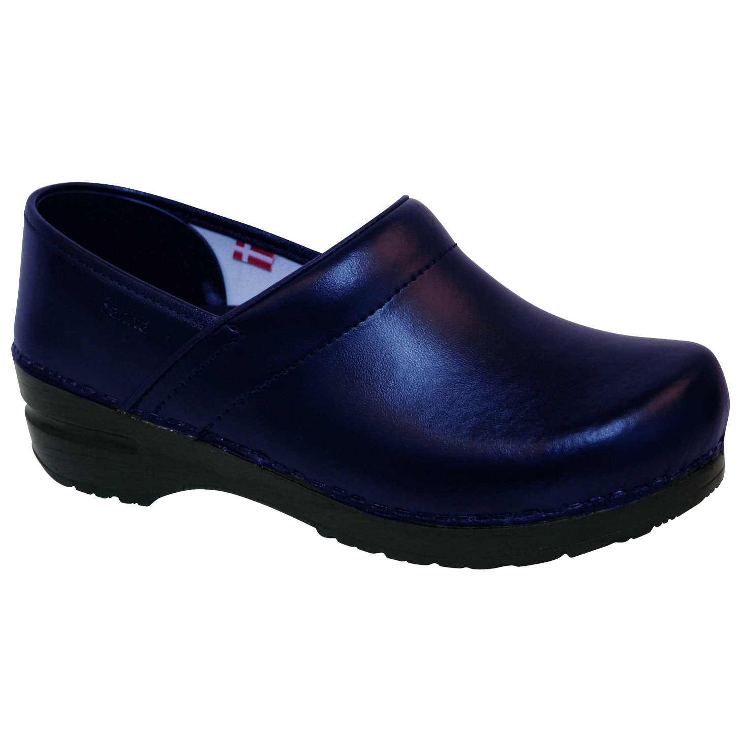 Sanita Pro. PU Men's in Blue Closed Back Clog
