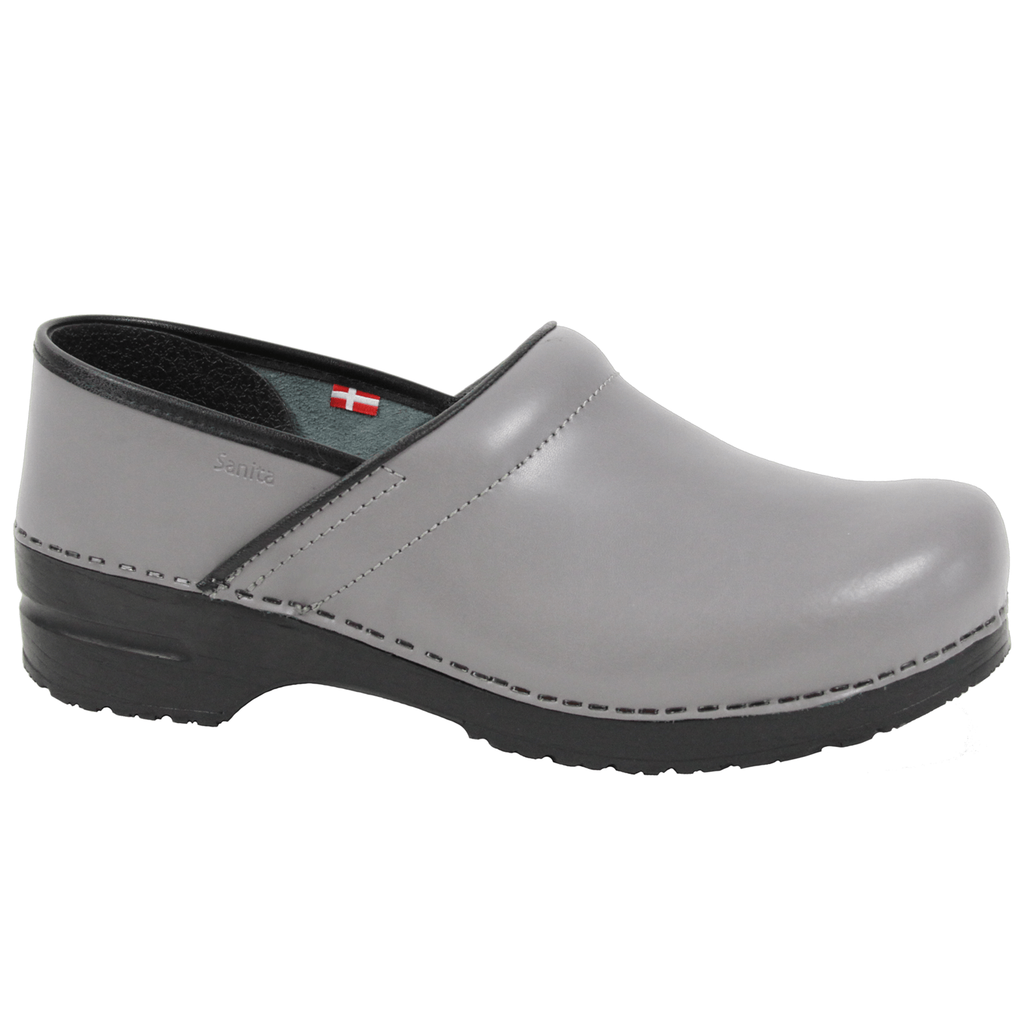 Sanita Pro. PU Men's in Grey Closed Back Clog