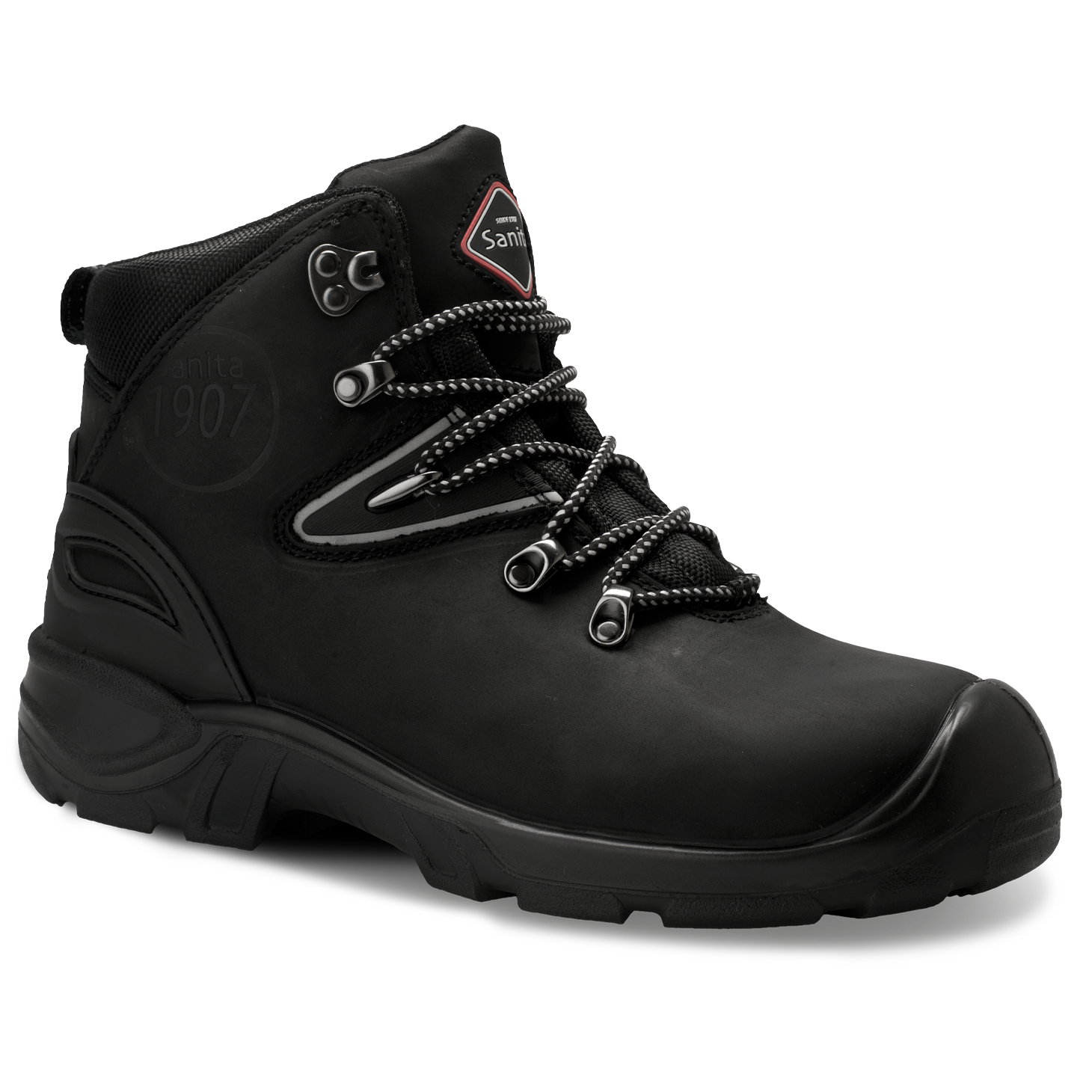 Sanita Colorado Unisex in Black Safety Boot