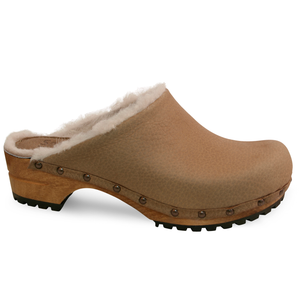 Sanita Hese Women's in Beige Open Back Clog