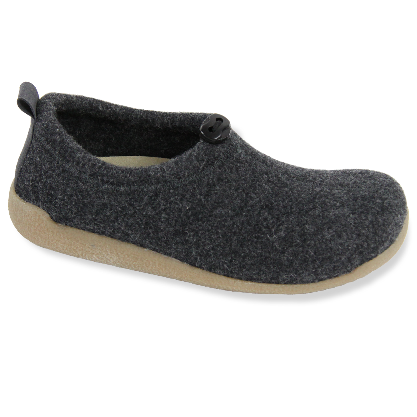 Sanita Lodge Shoe Unisex in Charcoal Slipper